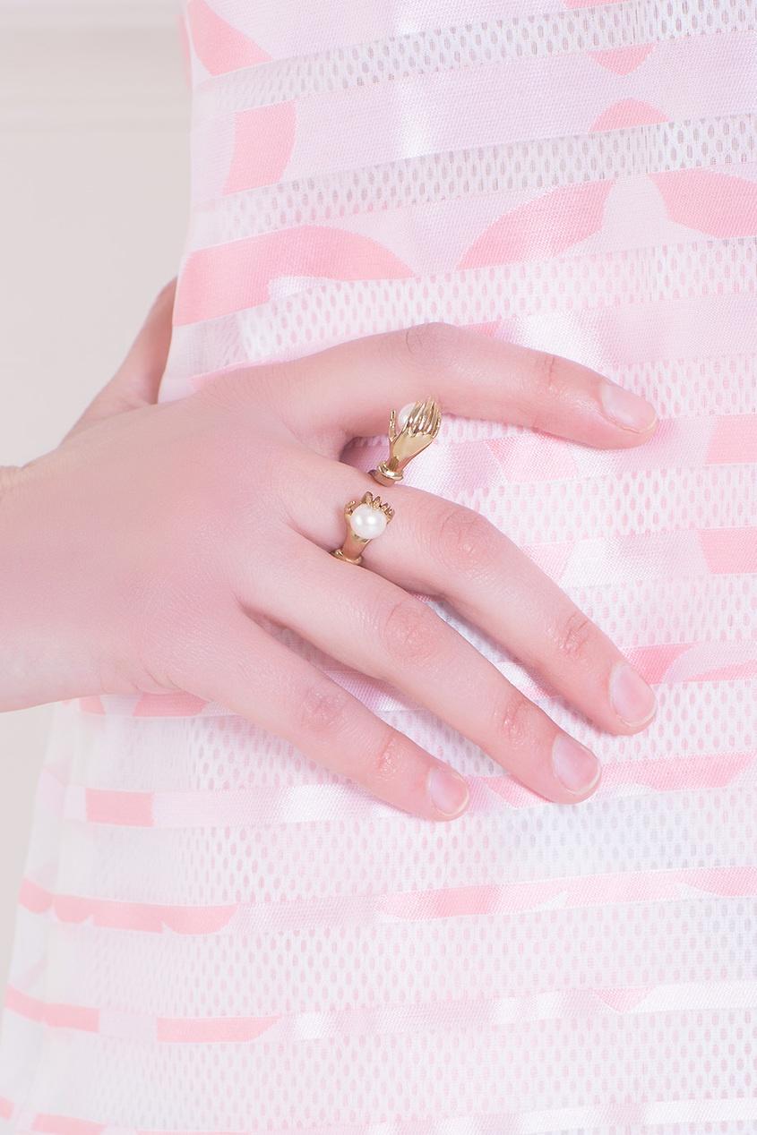 Бронзовое кольцо с жемчугом от AIZEL